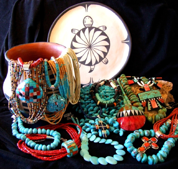 Indian Jewlry and Pottery