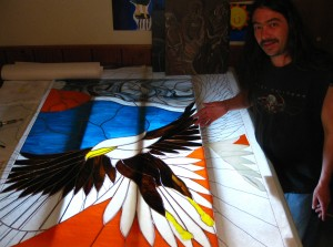 Stained Glass Eagle by Austen Brauker