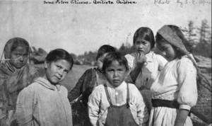 Quileute Children, 1907, Sarah Endicott Ober, University of Washington Libraries, Special Collections.