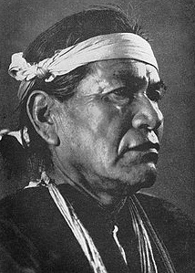 Navajo- Hastiin Tł'a, (1867–1937) Renown Navajo Medicine man and master weaver. Photo- Wikipedia