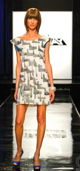 For her Episode 1 dress, I'm creating the New York window cityscape.Beyond Buckskin