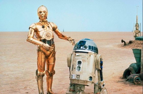Star Wars- R2-D2 AND C-3PO. Photo:Sci-Fi Gallery.