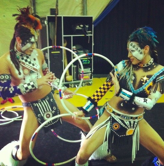 Hernandez, left, and LaRance are the hoop dancers featured in 'Totem'. ICTMN