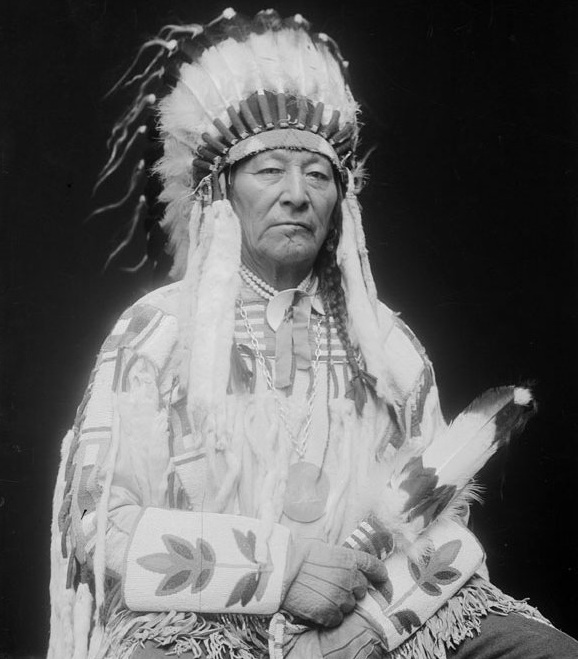 Plenty-Coups, famous Crow Chief. Photo- Native Quotes.