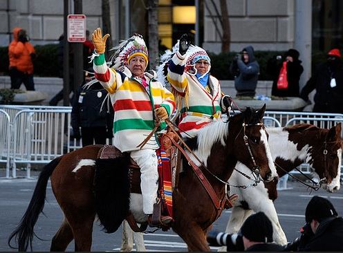 The Crow Nation had a special place in President Obama'a Inaugural Parade. Photo- BlueBloggin