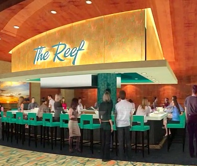 The Reef Seafood Bar Casino Website.