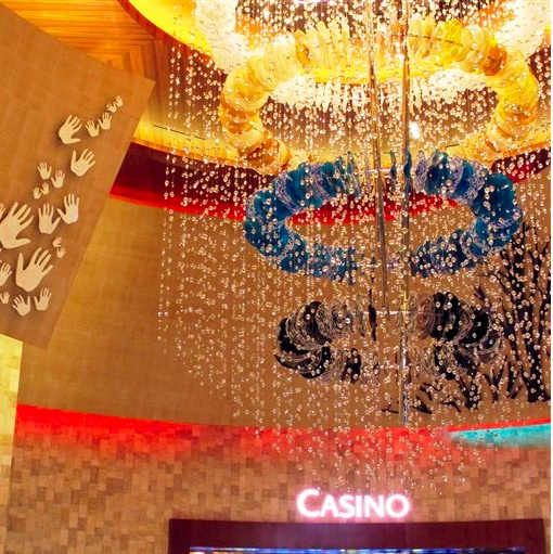 Twin Arrows Casino entrance. Photo- Big Story.