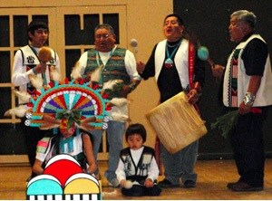 Hopi Corn Grinding Song by Yellow Fox. Photo- Crossing Worlds Foundation.