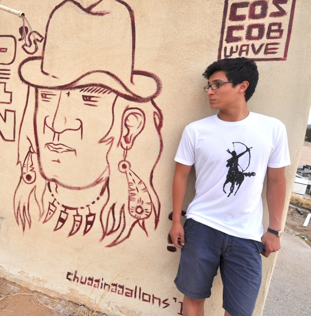 Cavalry Tee by Navajo artist Dustin Martin. Photo- Beyond Buckskin