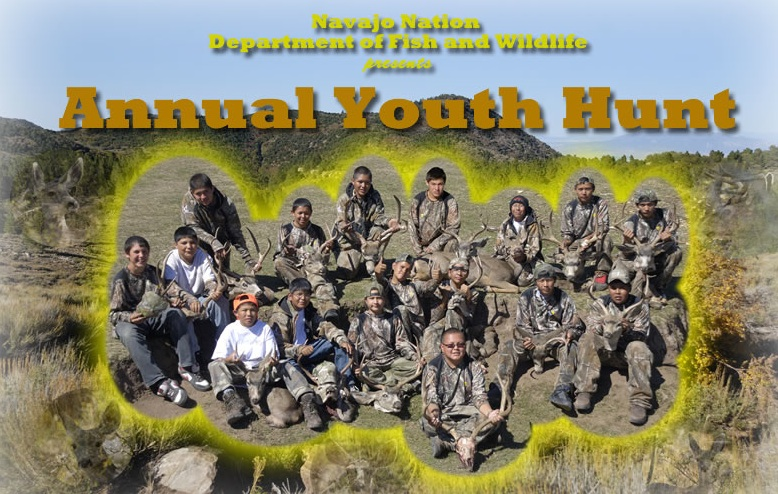 2013 Young Hunters. Photo courtesy Navajo Nation Fish and Wildlife Dept.