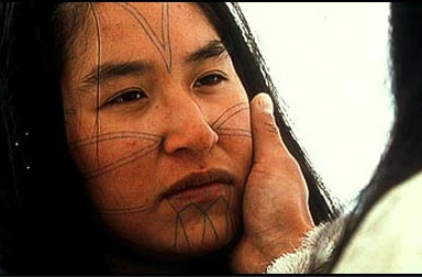 Beautiful tattoos of the Inuit. Bmezine encyclopedia.