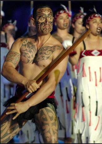 The ancient art of tā moko, or tattooing is strong among the Māori Natives.
