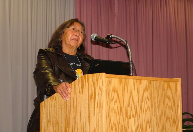 Tillie Black Bear is the executive director and one of the founders  of the White Buffalo Calf Woman Society, Inc. (WBCWS) that serves the Lakota Sioux Rosebud Reservation in Mission, S.D. Photo: mostly water.