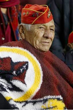 Roy Hawthorne of the famed Navajo Nation Code Talkers. Photo-Evan Vucci : AP