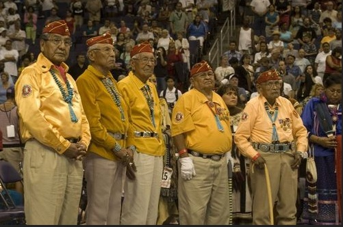 The Code Talkers.  Ahe'hee'. Photo-Navajocodetalkers.