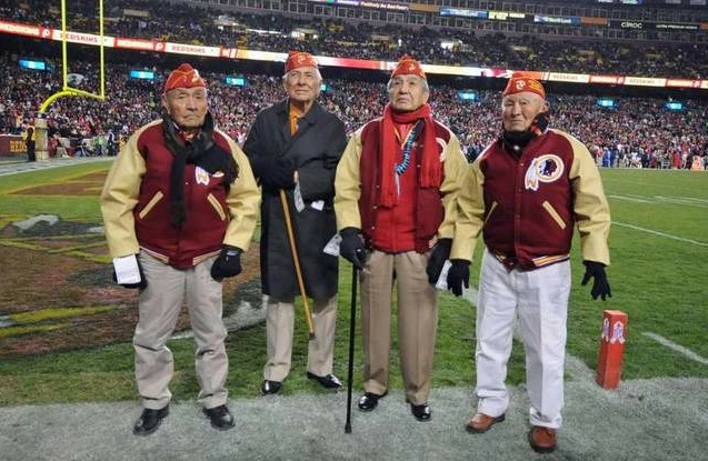The Washington Redskins honored Navajo Code Talkers. Photo- Marine Corps Times.
