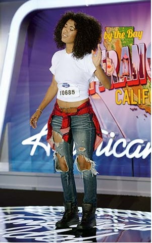 Aranesa Turner, 20, competes on Idol.