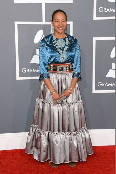 Beautiful Navajo singer Radmilla Cody was the first Native to be nominated at the prestigious  55th Annual GRAMMY Awards.