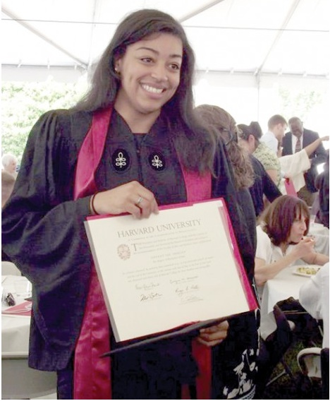 Tiffany Smalley was the first member of the Wampanoag Tribeto graduate from the College since Caleb Cheeshahteaumuck in 1665. Photo courtesy of Millicent and Jay Smalley.