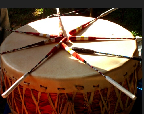A Beautiful Ceremonial Drum.