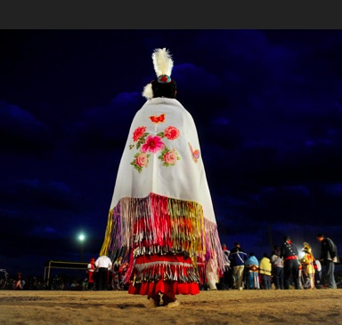 Navajo dancer Dianna Black  dressed in her beautiful regalia.