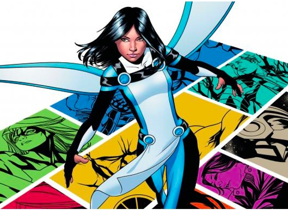 Native Superhero Equinox. Photo- Jeff Lemire. DC Comics.