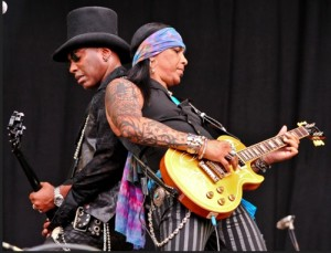 Micki Free and artist Jean Beauvoir. Photo: GC Jel Productions.