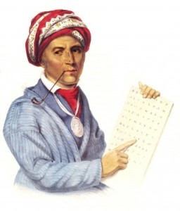 The Cherokee syllabary syllabary was invented by Sequoyah. Photo- Wikipedia