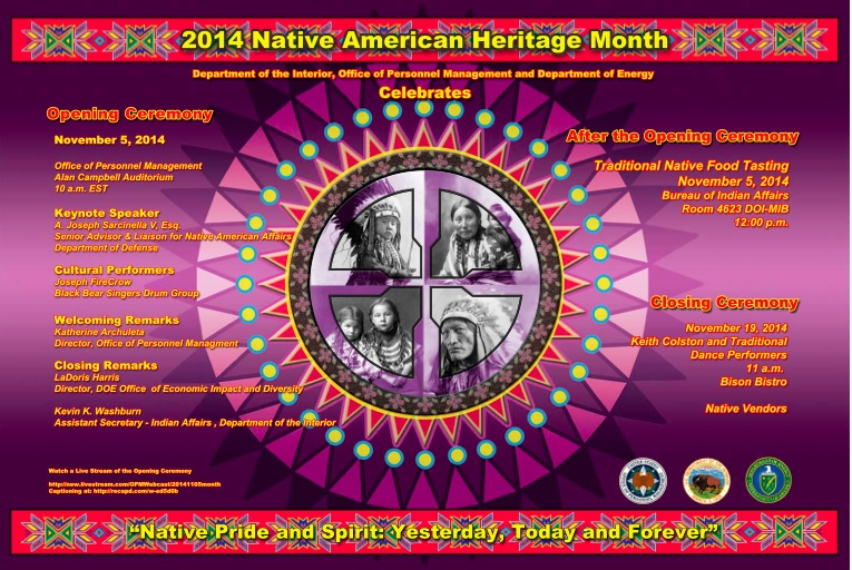 2014 poster for  National Native American Heritage Month