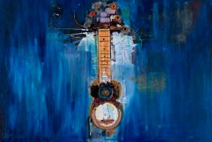 Blue Guitar by Kevin Red Star