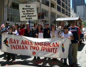 March with BAAITS (Bay Area American Indians Two-Spirits) in SF Pride 2015 Sunday, June 28 at 11-30am in PDT-135 Main Street in San Francisco, California