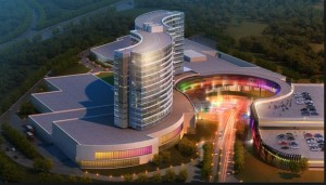 A rendering of the proposed Mashpee Wampanoag Casino. Photo- BostonGlobe