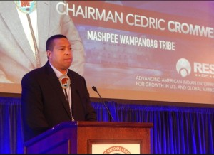 Chair Cedric Cromwell of Wampanoags. Photo Wampanoag