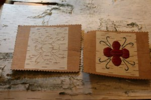 Example of how birch bark biting was used as pattern for quillwork. Photo- Mary Annette Pember