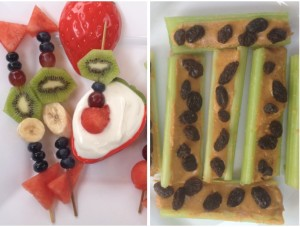 Fun and healthy snack ideas for children. Photo- huffingtonpost