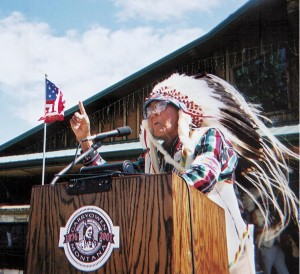 Joseph Medicine Crow spoke at a dedication for a Peace Memorial near the Battle of the Little Bighorn in Montana. Beck Bohrer NYT