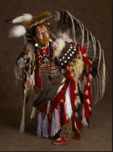 Fancy Pow Wow dancer Fabian Fontenelle. Photo- national geographic