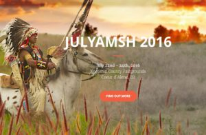 NOTE the dates and plan to visit Julyamsh this summer. It promises to be a winner. For more information visit the website