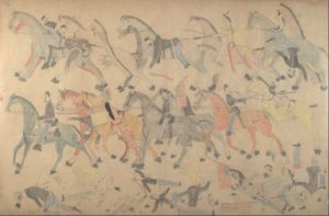 Drawings by Red Horse. Credit National Archives:Smithsonian Institution