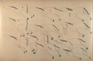 Drawings by Red Horse. Credit National Smithsonian Institution