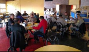 Navajo Nation police officers meet at Dine' College for an academy status update. Photo: Tribal college