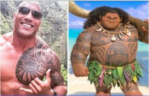 Dwayne The Rock Johnson provides the voice of the demi-god Maui, and is proud of his Samoan heritage.