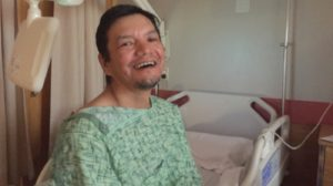 Tony Williah recovers at Stanton Territorial Hospital. Photo- CBC News