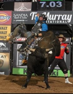 Native Dakota Louis rides Maverick.-pbr