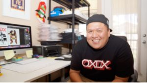 oxdx creator jared yazzie at his home office. photo by tate walker